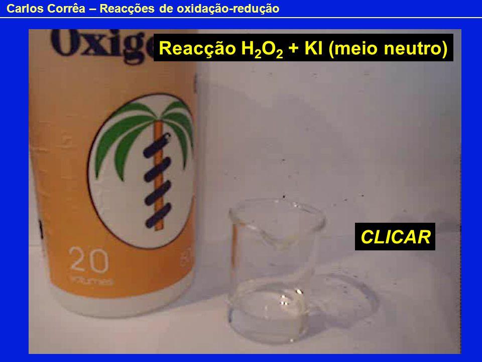 Peróxido de hidrogénio e iodeto (meio alcalino)