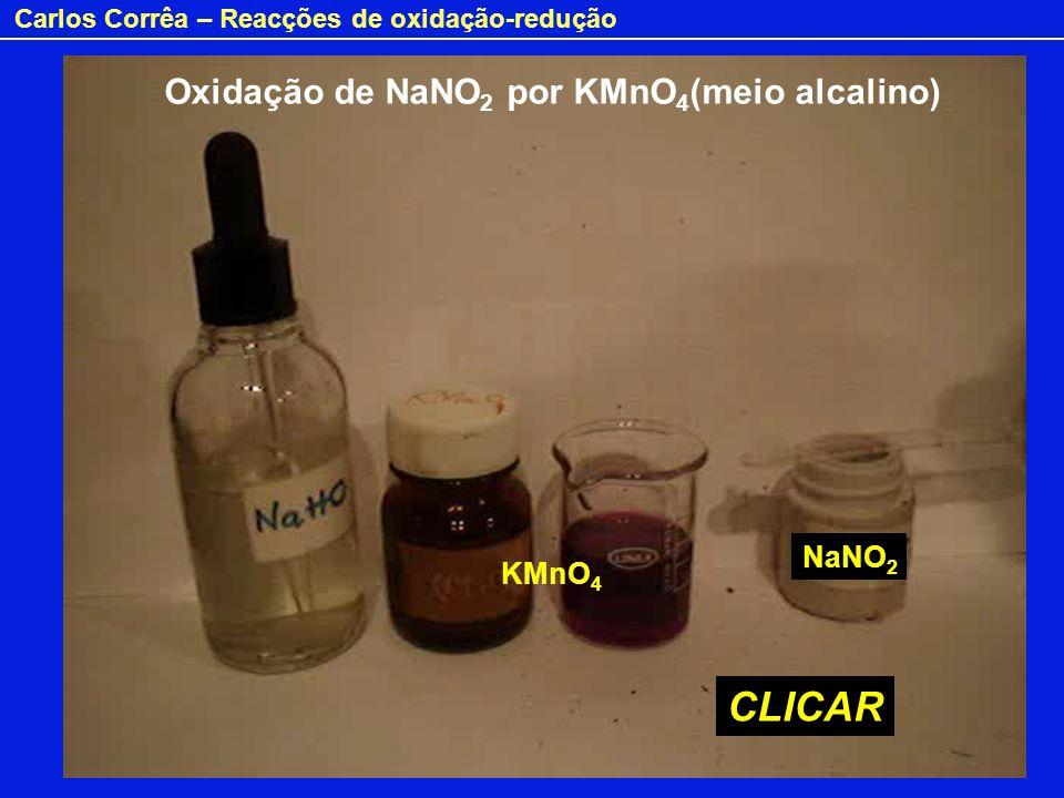 Oxidação de NaNO2 por KMnO4(meio alcalino)