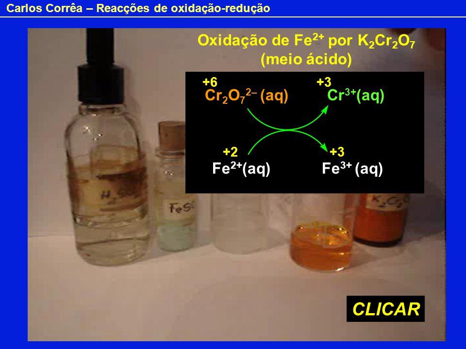 Oxidação de Fe2+ por K2Cr2O7