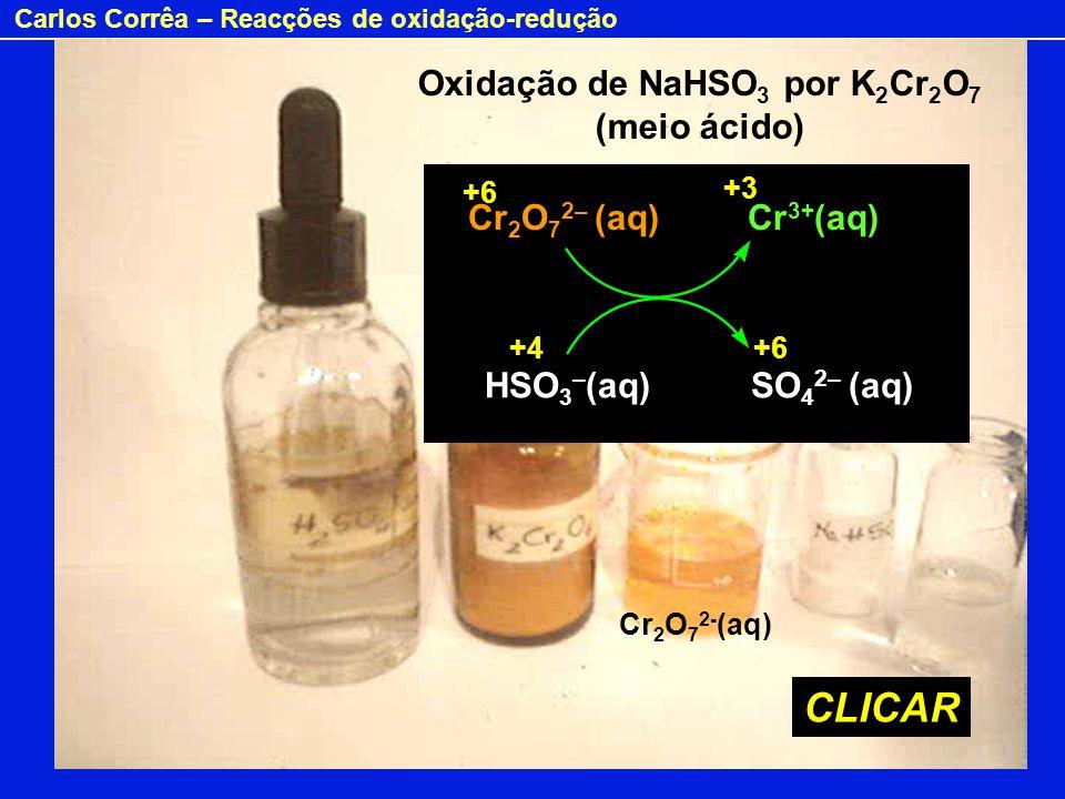Oxidação de NaHSO3 por K2Cr2O7