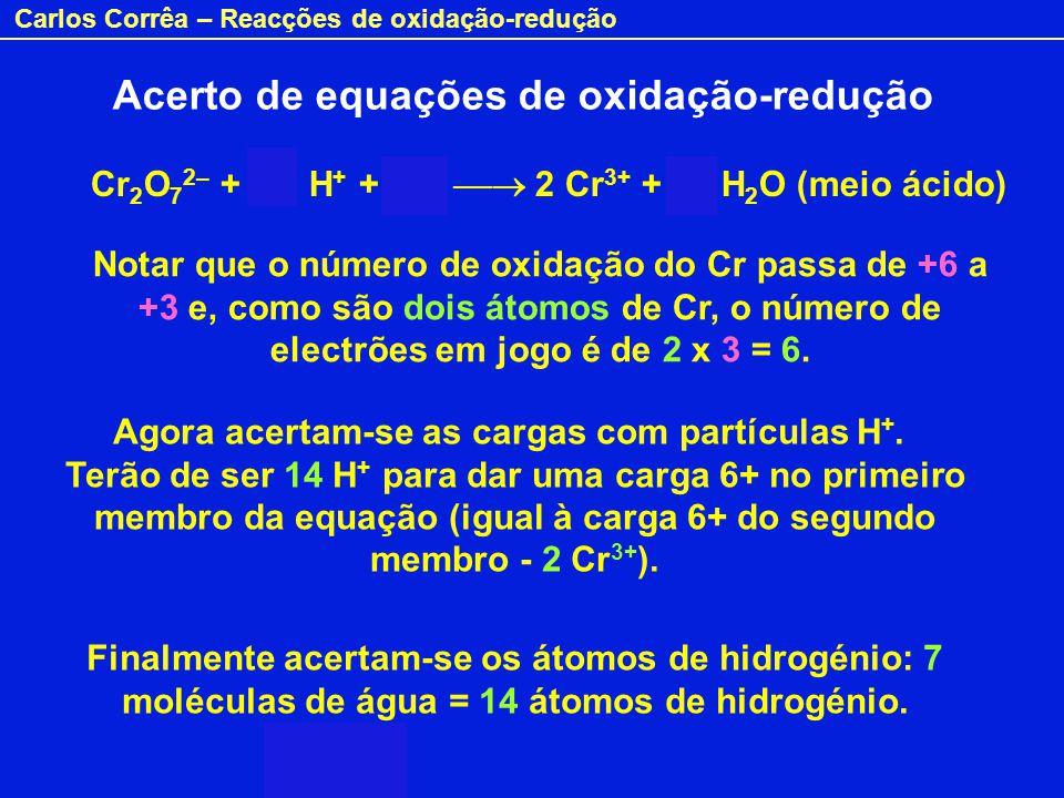 Acerto de equações de oxidação-redução