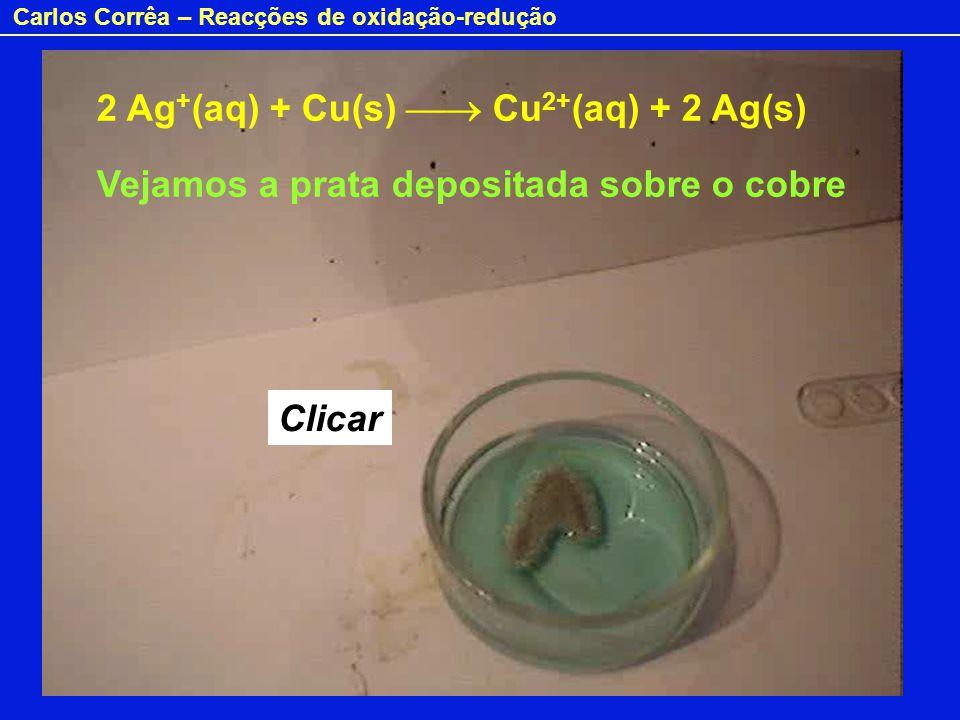 2 Ag+(aq) + Cu(s)  Cu2+(aq) + 2 Ag(s)