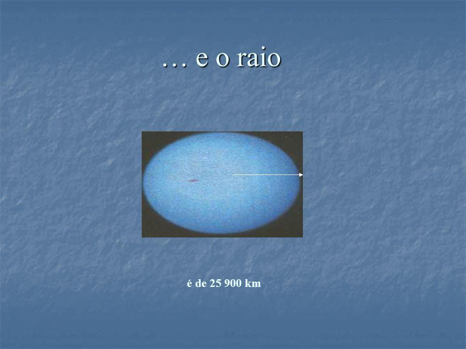 … e o raio é de 25 900 km