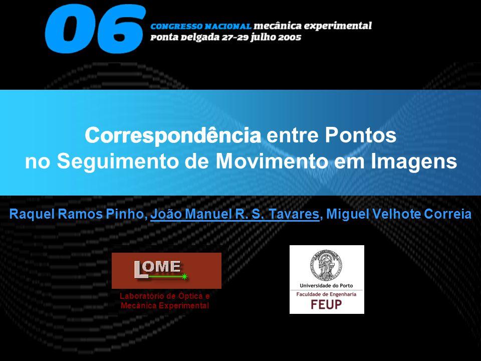 Correspondência entre Pontos no Seguimento de Movimento em Imagens