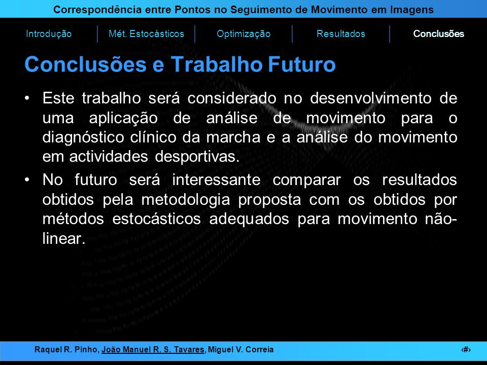 Conclusões e Trabalho Futuro