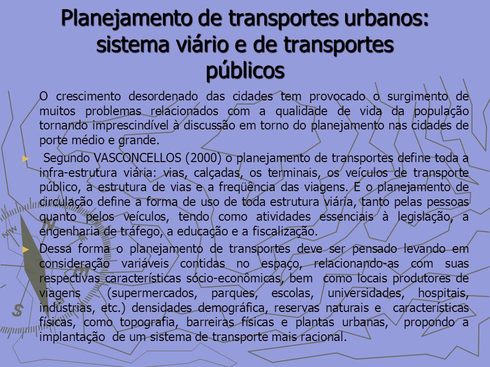 Planejamento de transportes urbanos: sistema viário e de transportes públicos