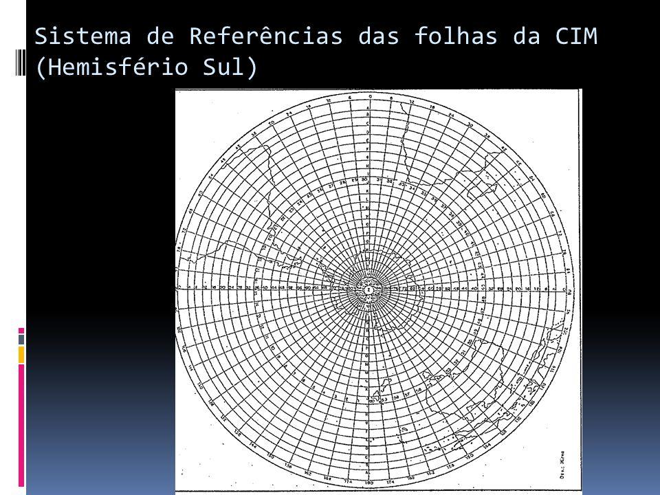Sistema de Referências das folhas da CIM (Hemisfério Sul)