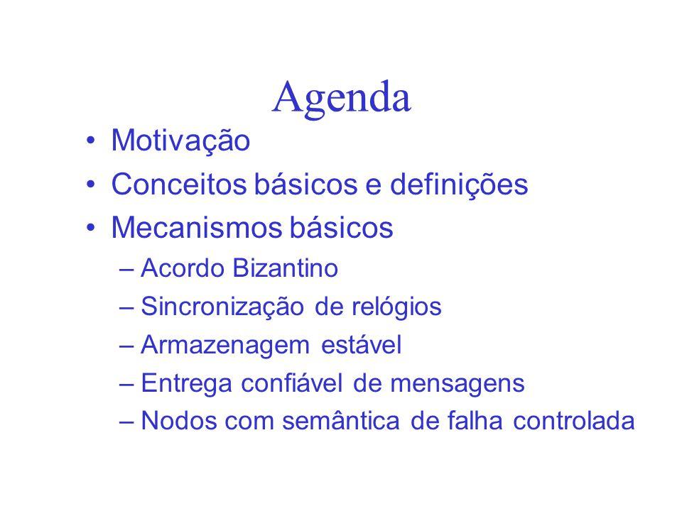 Agenda Motivação Conceitos básicos e definições Mecanismos básicos