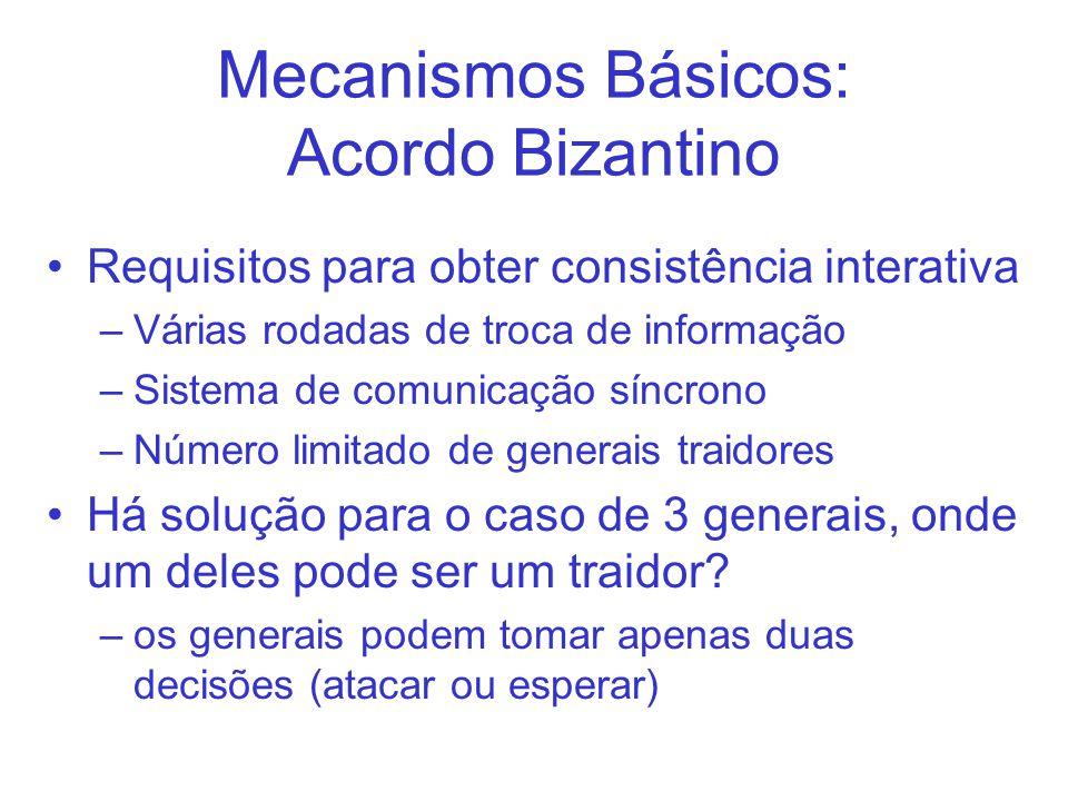 Mecanismos Básicos: Acordo Bizantino