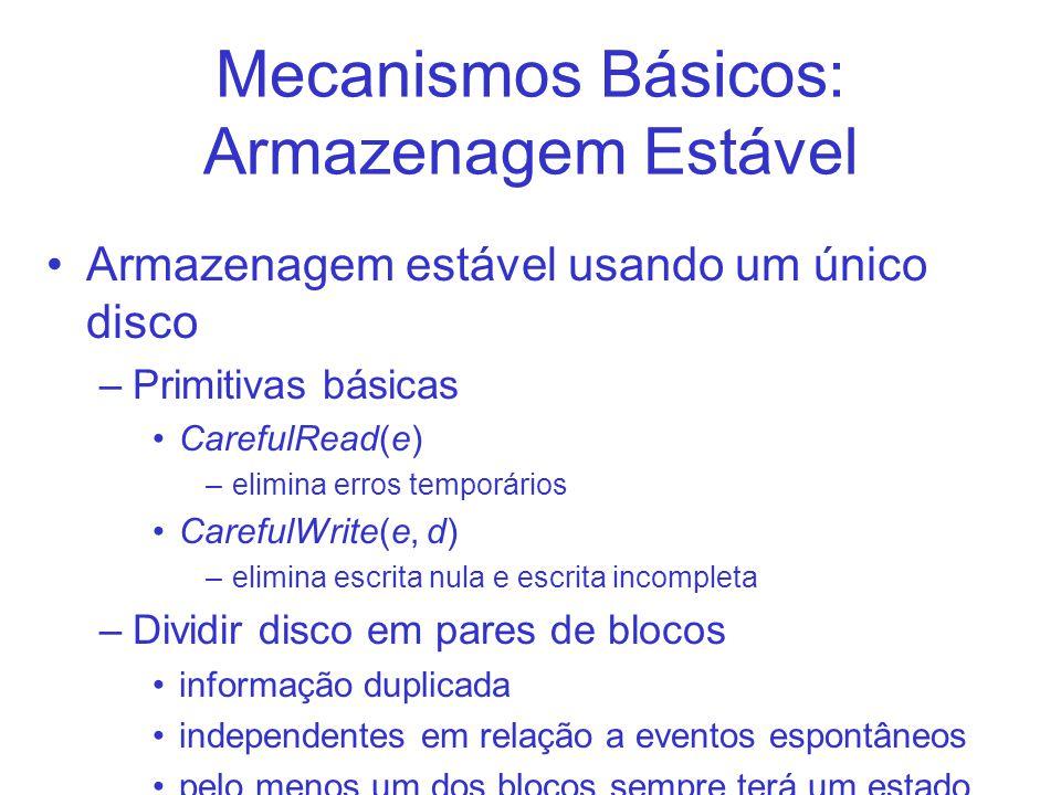 Mecanismos Básicos: Armazenagem Estável