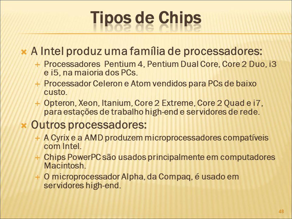 A Intel produz uma família de processadores: