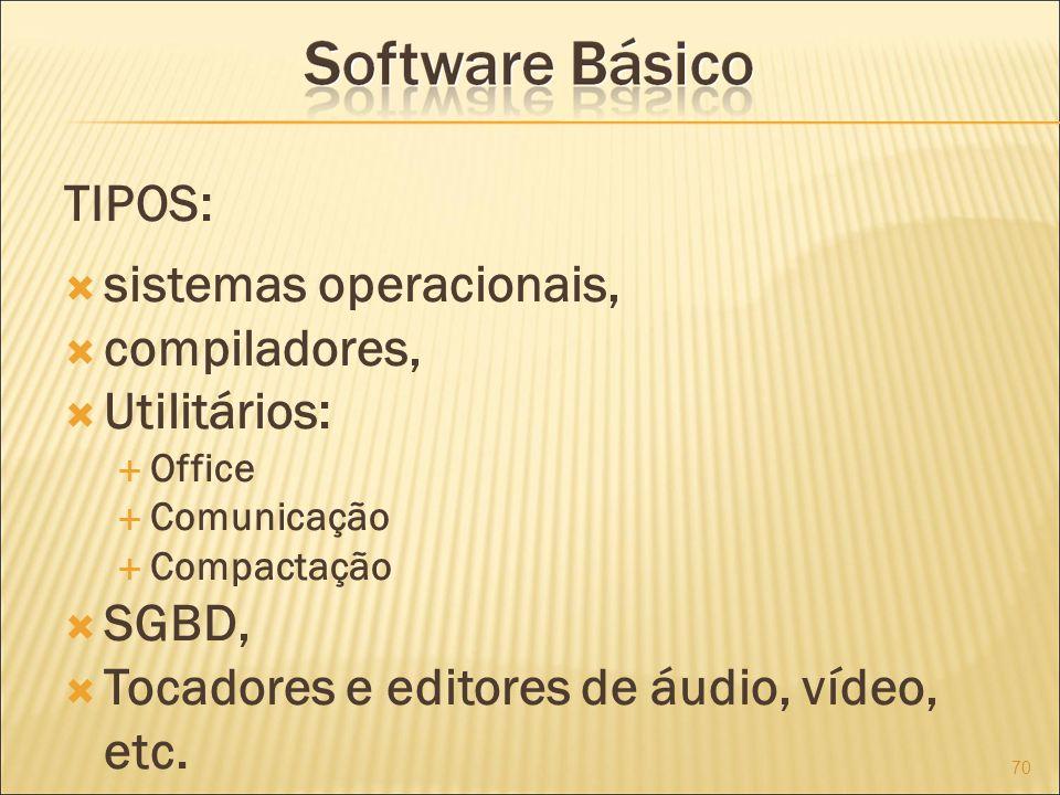 sistemas operacionais, compiladores, Utilitários: