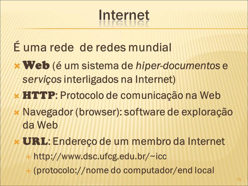 É uma rede de redes mundial