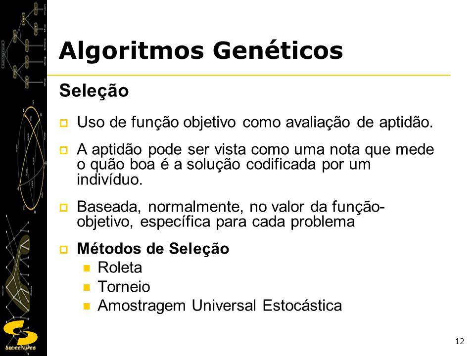 Algoritmos Genéticos Seleção