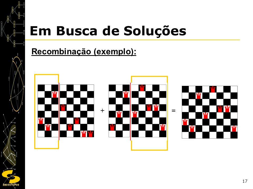 Em Busca de Soluções Recombinação (exemplo): + =
