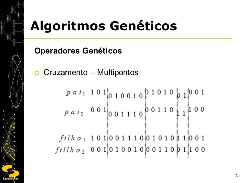 Algoritmos Genéticos Operadores Genéticos Cruzamento – Multipontos