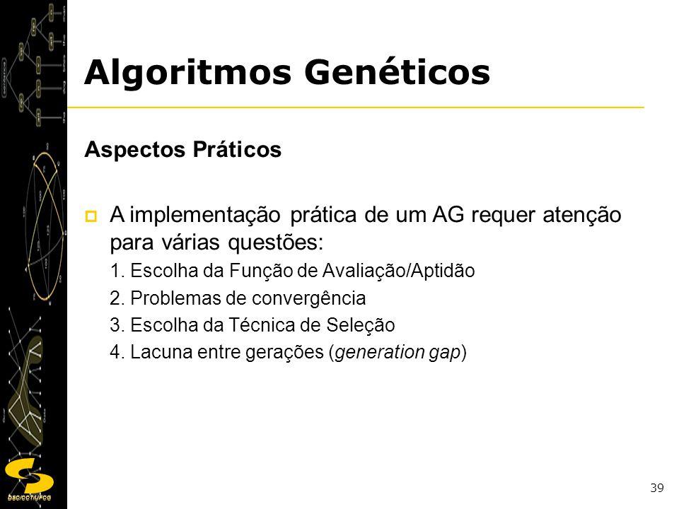 Algoritmos Genéticos Aspectos Práticos
