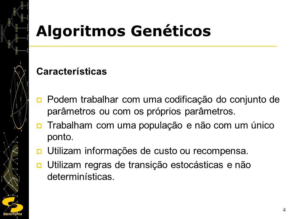 Algoritmos Genéticos Características