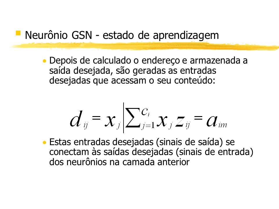 Neurônio GSN - estado de aprendizagem