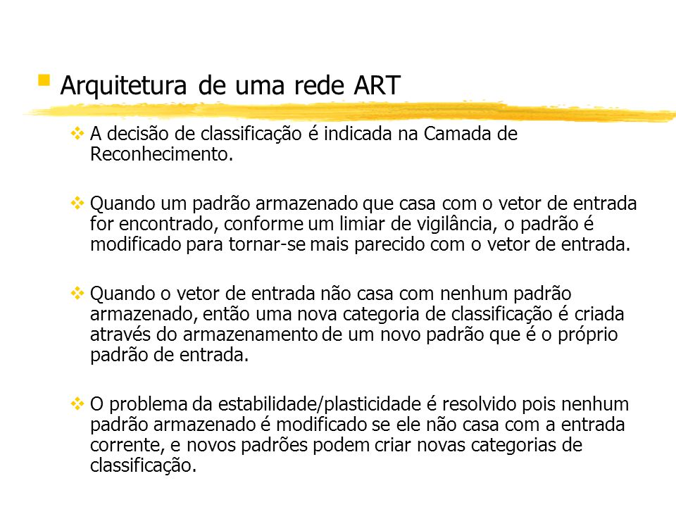 Arquitetura de uma rede ART
