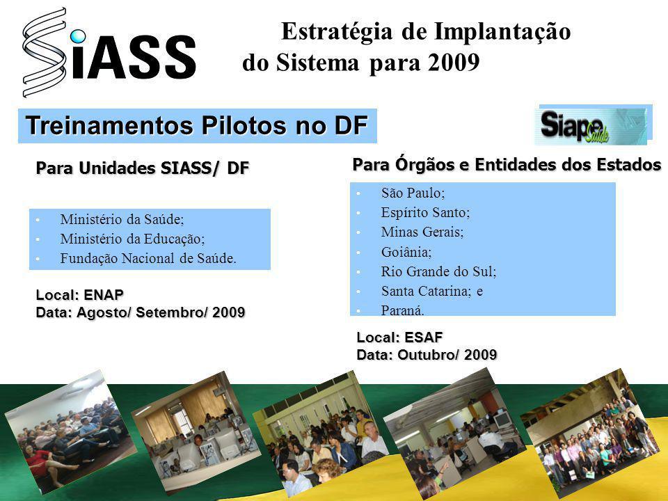 Estratégia de Implantação do Sistema para 2009