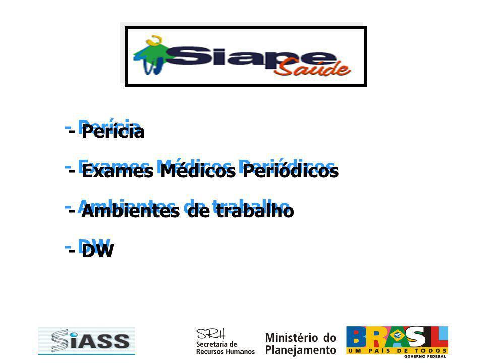 - Perícia - Exames Médicos Periódicos - Ambientes de trabalho - DW