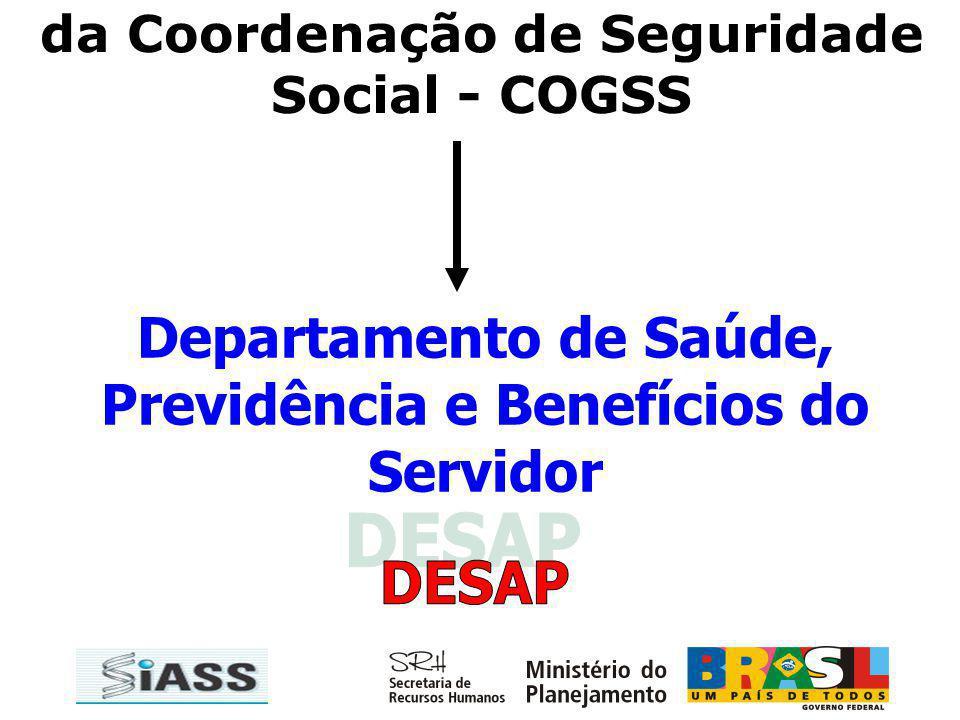 DESAP Departamento de Saúde, Previdência e Benefícios do Servidor