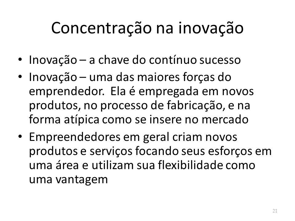Concentração na inovação