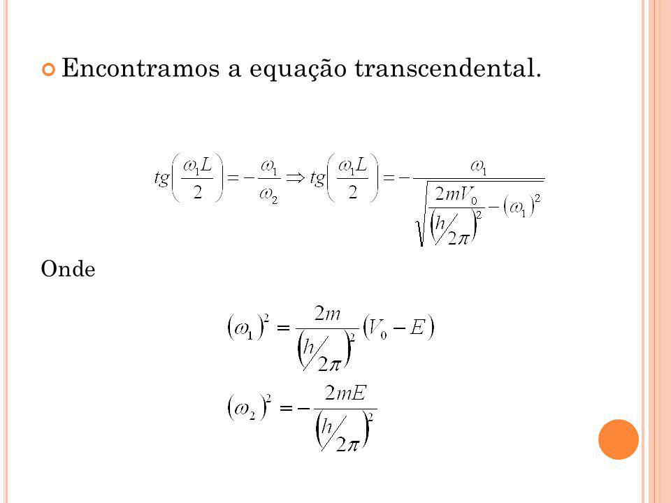 Encontramos a equação transcendental.