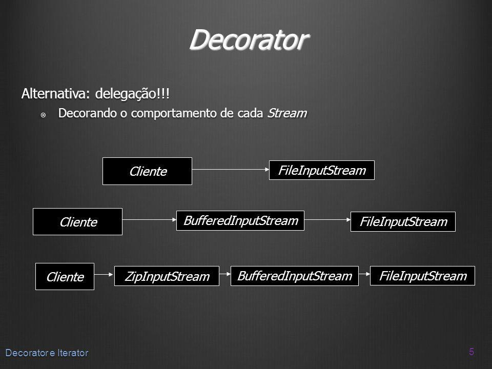 Decorator Alternativa: delegação!!!