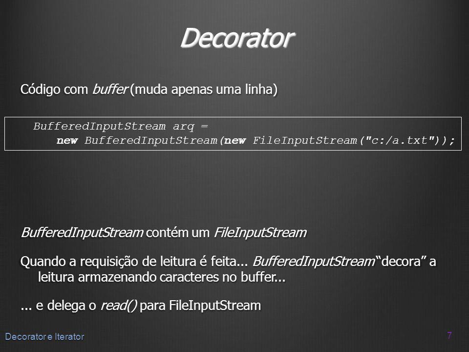 Decorator Código com buffer (muda apenas uma linha)