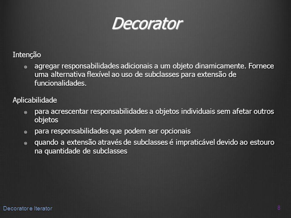 Decorator Intenção.
