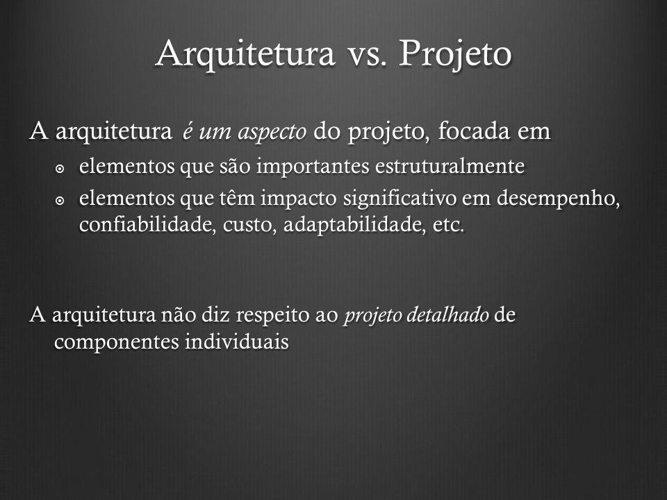 Arquitetura vs. Projeto