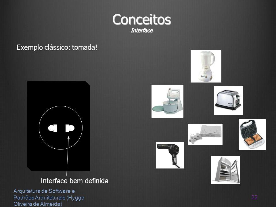 Conceitos Interface Exemplo clássico: tomada! Interface bem definida