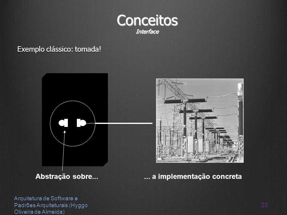 Conceitos Interface Exemplo clássico: tomada! Abstração sobre...