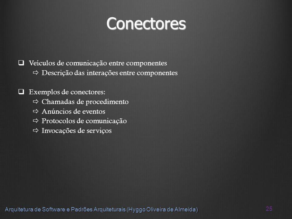 Conectores Veículos de comunicação entre componentes
