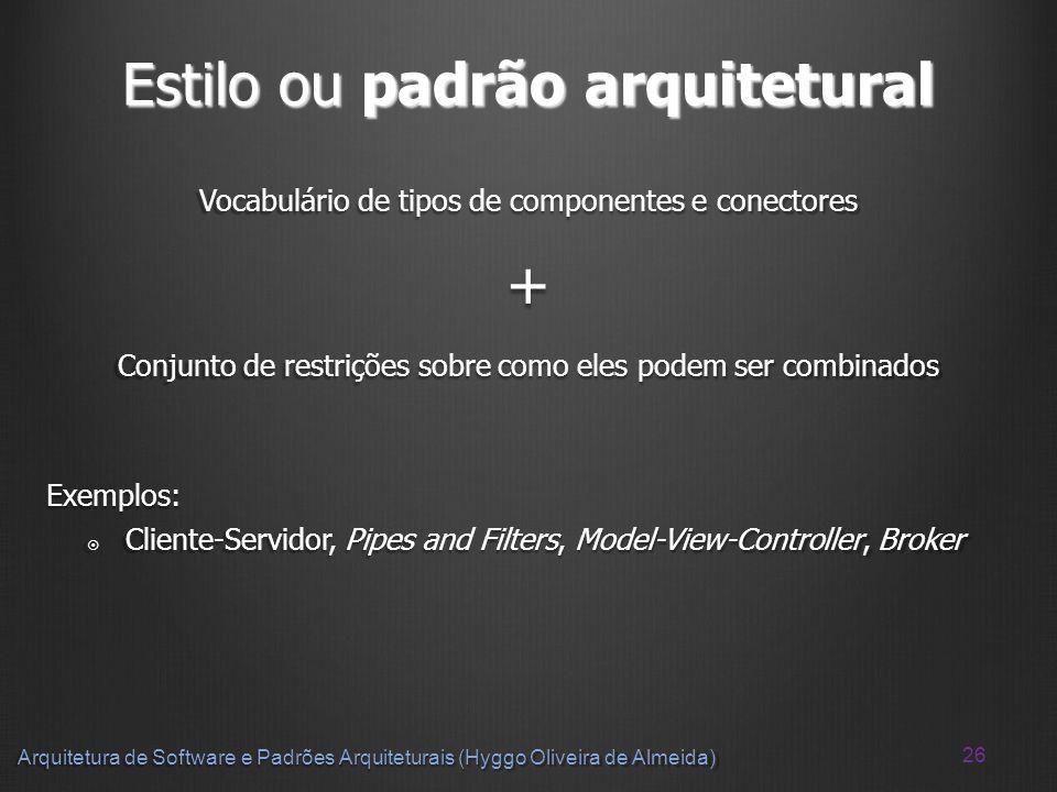 Estilo ou padrão arquitetural