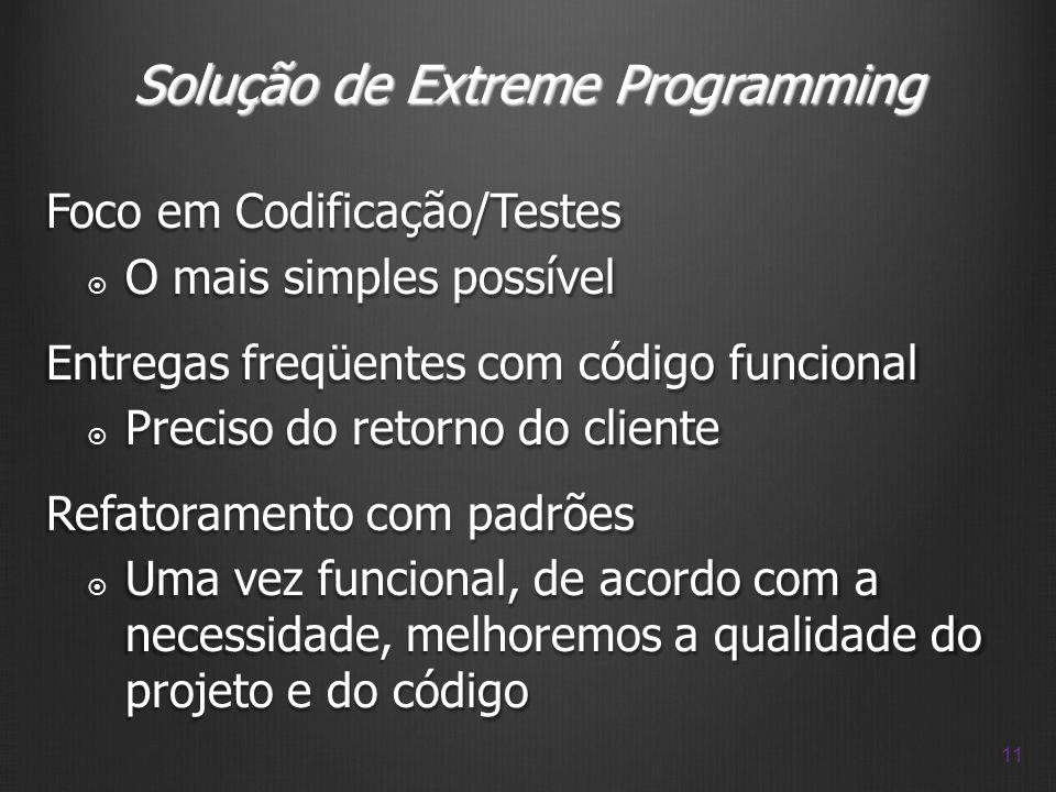 Solução de Extreme Programming