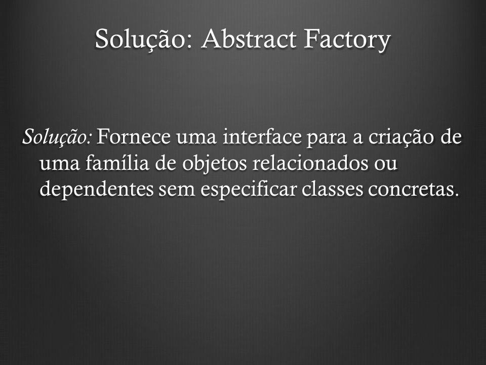 Solução: Abstract Factory