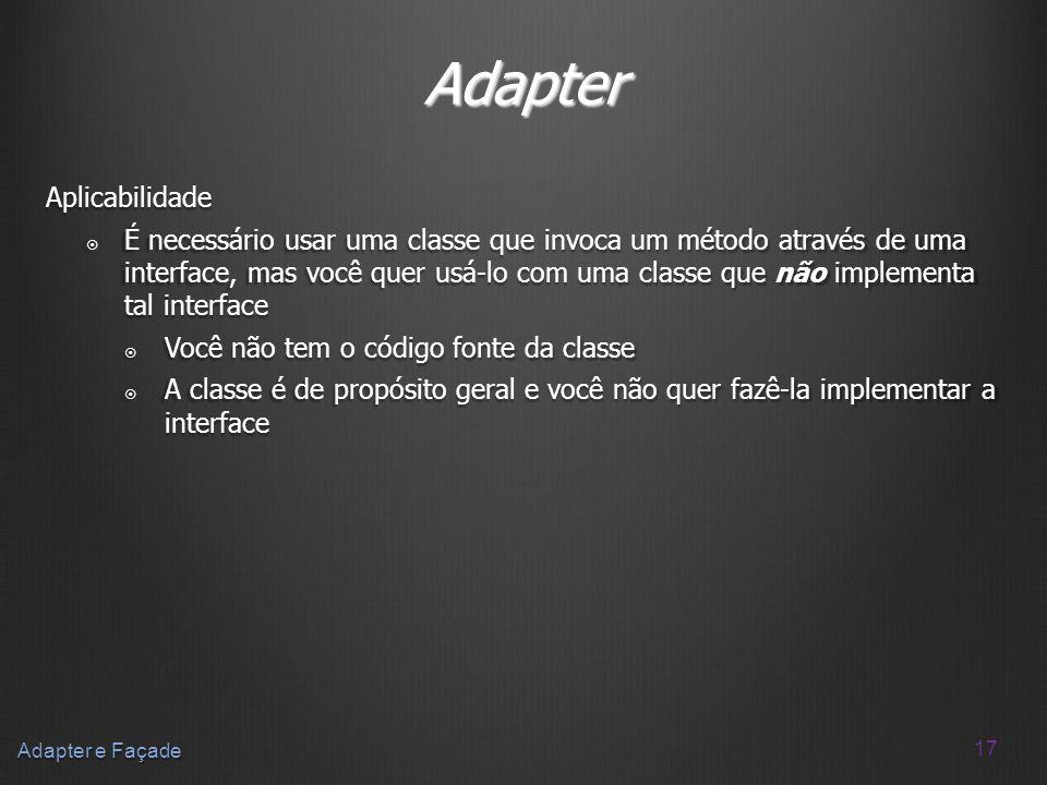 Adapter Aplicabilidade