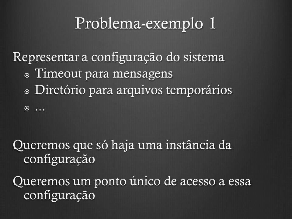 Problema-exemplo 1 Representar a configuração do sistema