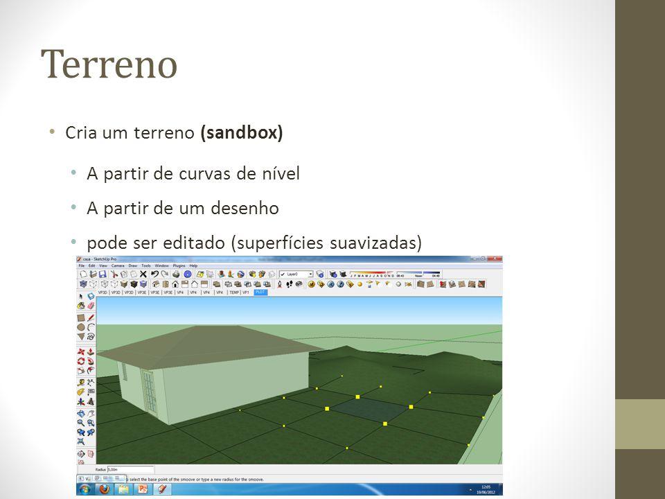 Terreno Cria um terreno (sandbox) A partir de curvas de nível
