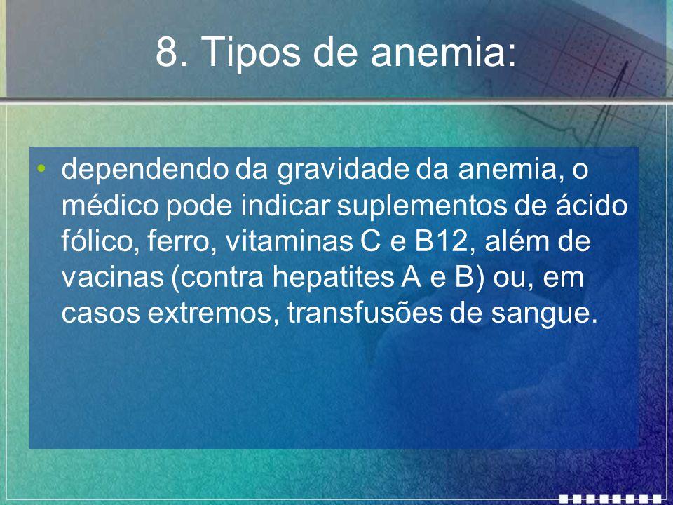 8. Tipos de anemia: