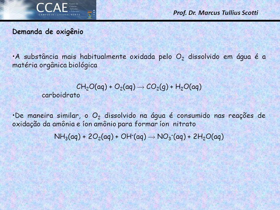 CH2O(aq) + O2(aq)  CO2(g) + H2O(aq) carboidrato