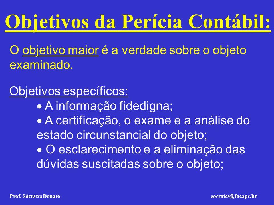 Objetivos da Perícia Contábil: