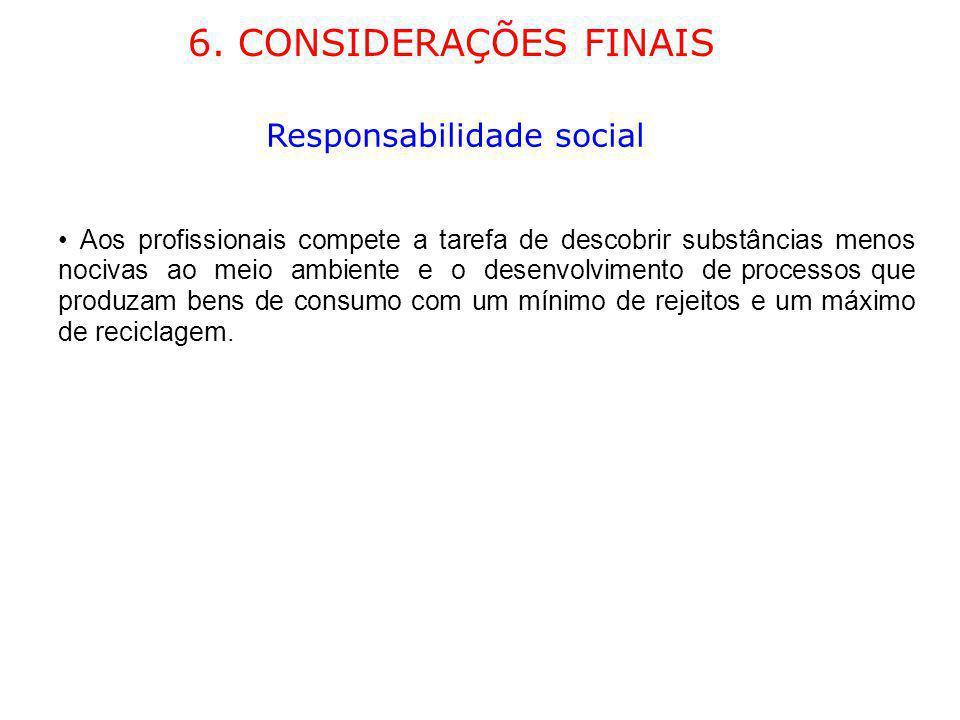 6. CONSIDERAÇÕES FINAIS Responsabilidade social