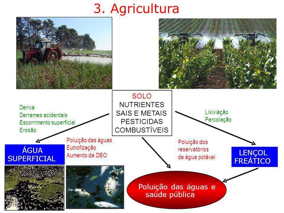 3. Agricultura SOLO NUTRIENTES SAIS E METAIS PESTICIDAS COMBUSTÍVEIS