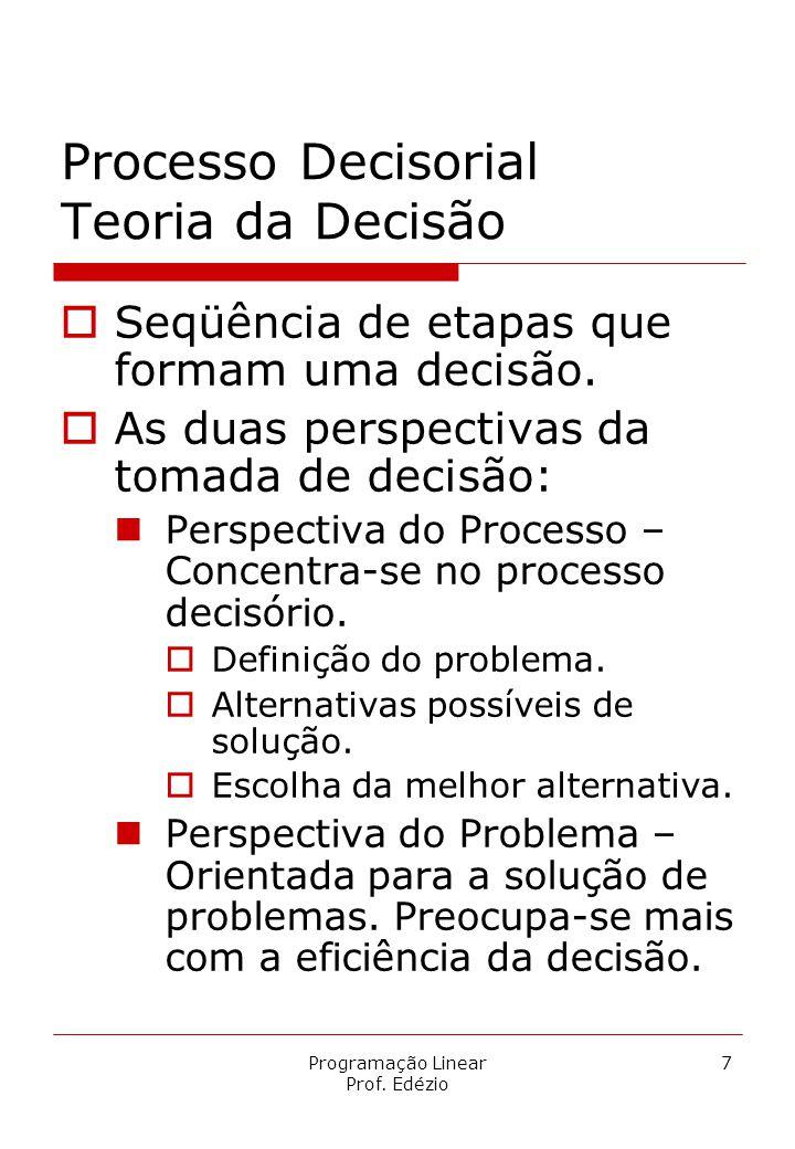 Processo Decisorial Teoria da Decisão