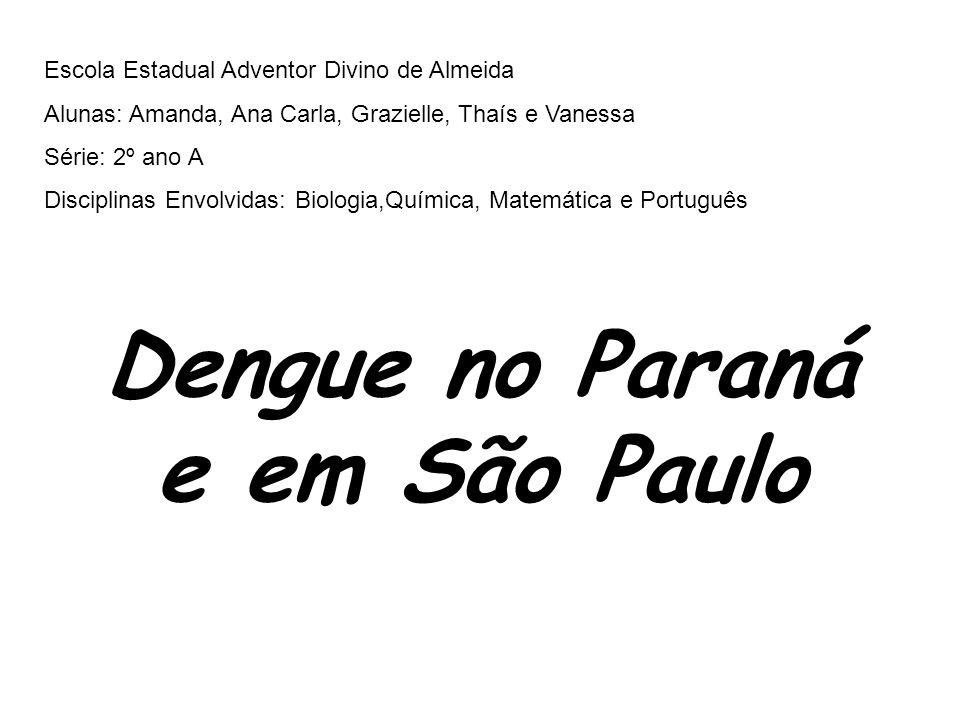 Dengue no Paraná e em São Paulo
