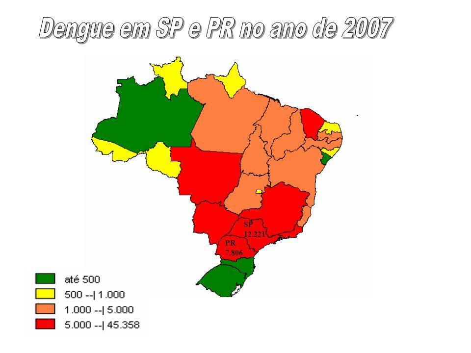 Dengue em SP e PR no ano de 2007